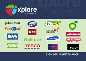 Xplore Signage Maintenance brochure.