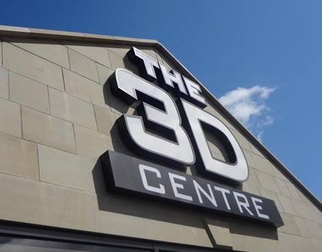 3D Sign we made for the 3D centre in Bolton