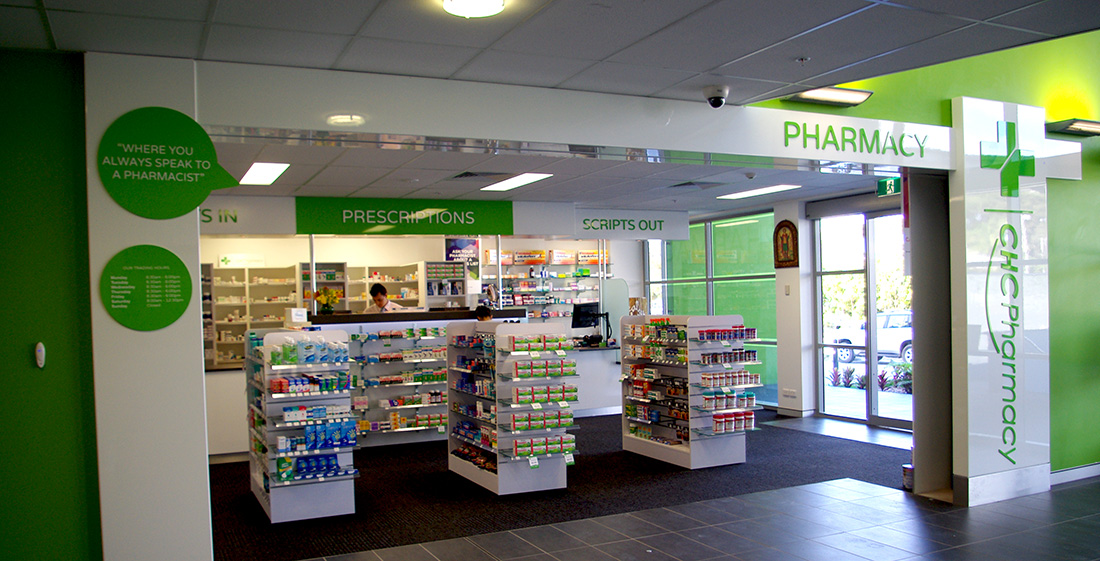 This show's the signage, both internal and external that we manufactured for a Chemist.
