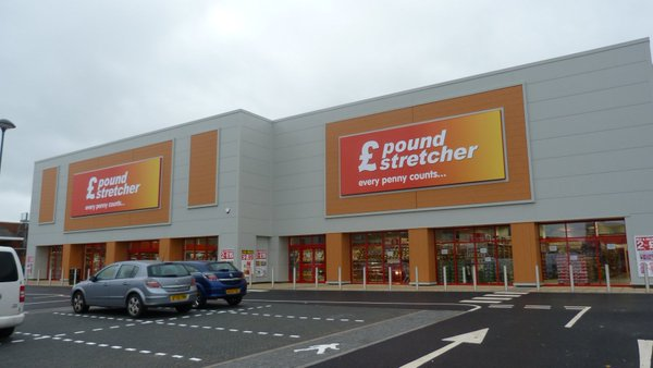 Signs we made for Pound Stretcher