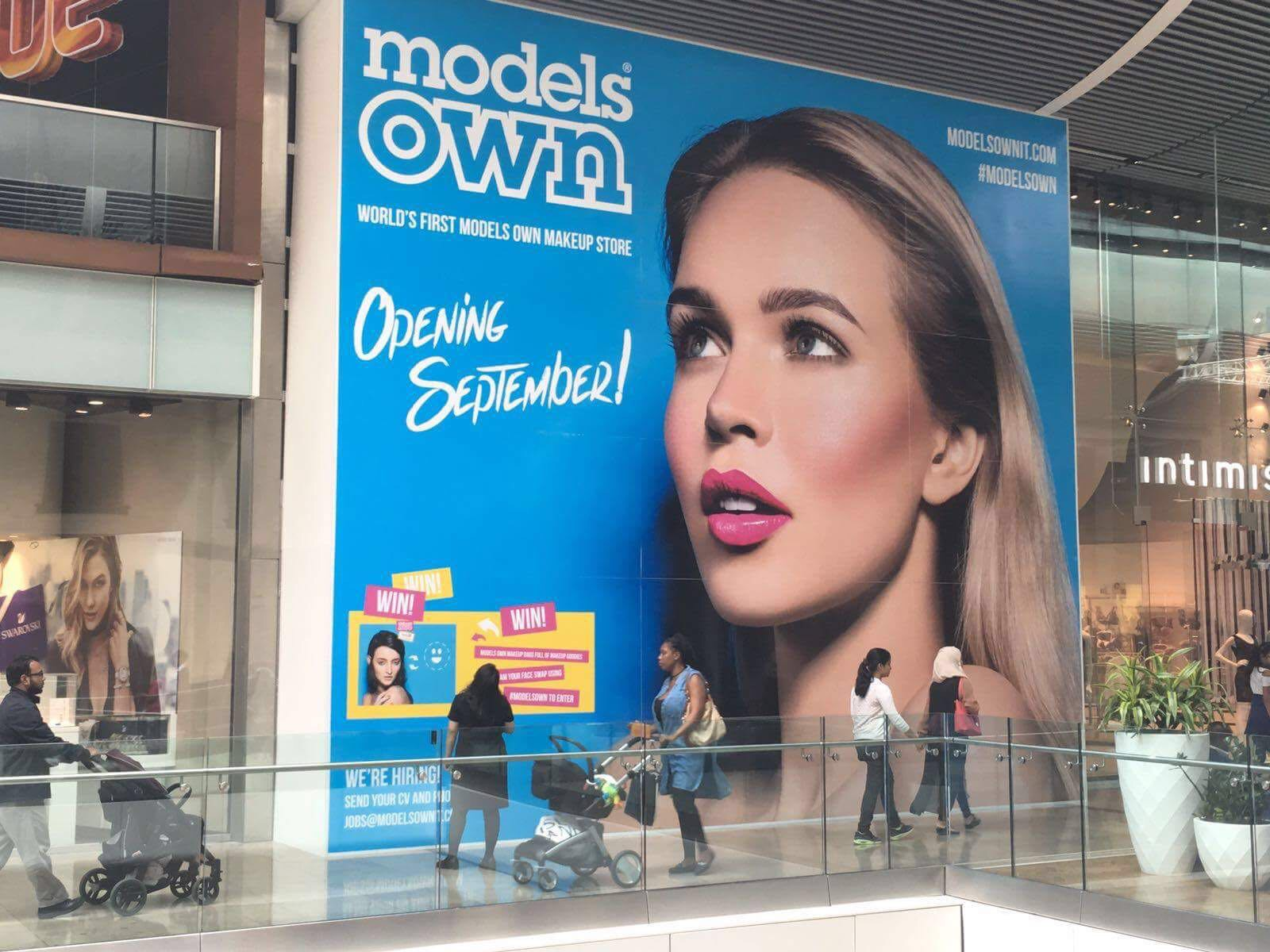 Hoardings graphic we produced for Models own.
