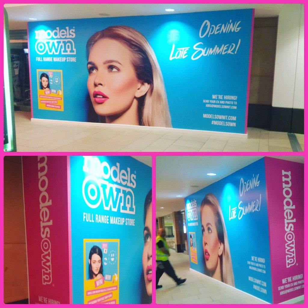 Large hoardings graphics we produced for Models Own.