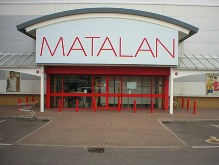 Flex sign for Matalan.
