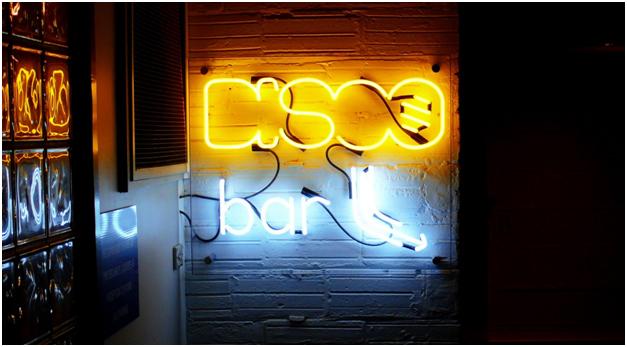 Neon bar sign.